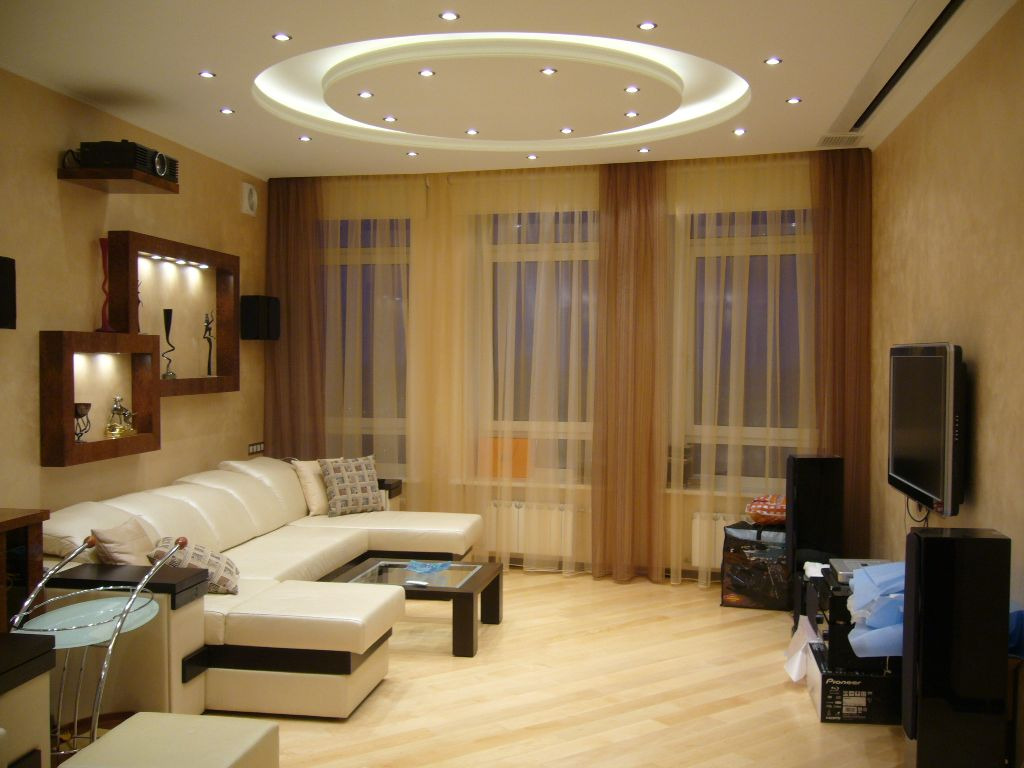 Дизайн современной гостиной комнаты фото